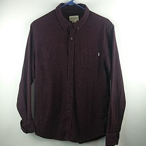 Obey long sleeve button down shirt size medium